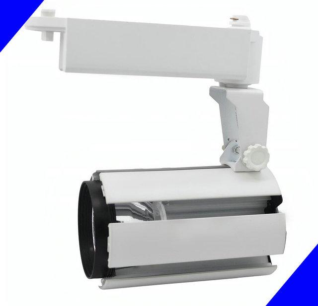 20 W COB Teto LED Faixa Light Rail Holofotes Vitrine Lâmpada AC85-265V Quente/Frio Branco Loja de Rastreamento de Teto