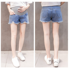 2019 New Summer Maternity Denim Short Pregnancy Pants Pregnant Jeans Belly Trousers M-XXL