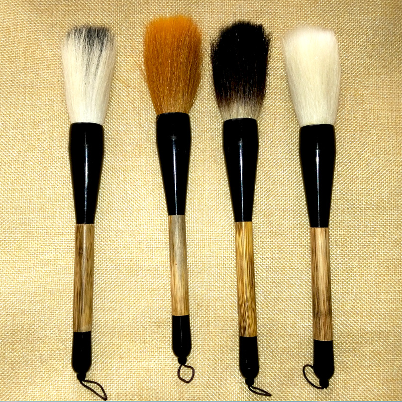 4pcs/pack Chinese Pianiting Brush Pen Hopper-shaped Paint Brush Art Stationary Oil Painting Brush Calligraphy Pen 1pc 96grid bag pen holder paint brush holder watercolor oil acrylic painting tool pencil case stationary art easel container