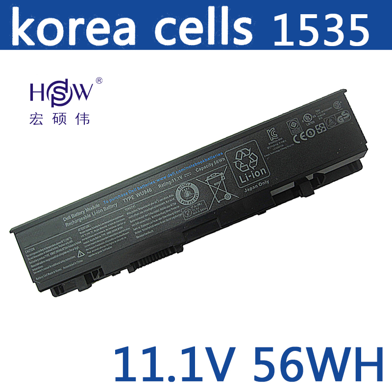 HSW Laptop Battery For Dell Studio 1535 1536 1537 1555 1557 1558 PP33L PP39L 312-0701 312-0702 KM958 KM965 MT264 WU946 new and orginal english us black with backlit laptop keyboard for dell studio 15 1555 1557 1558