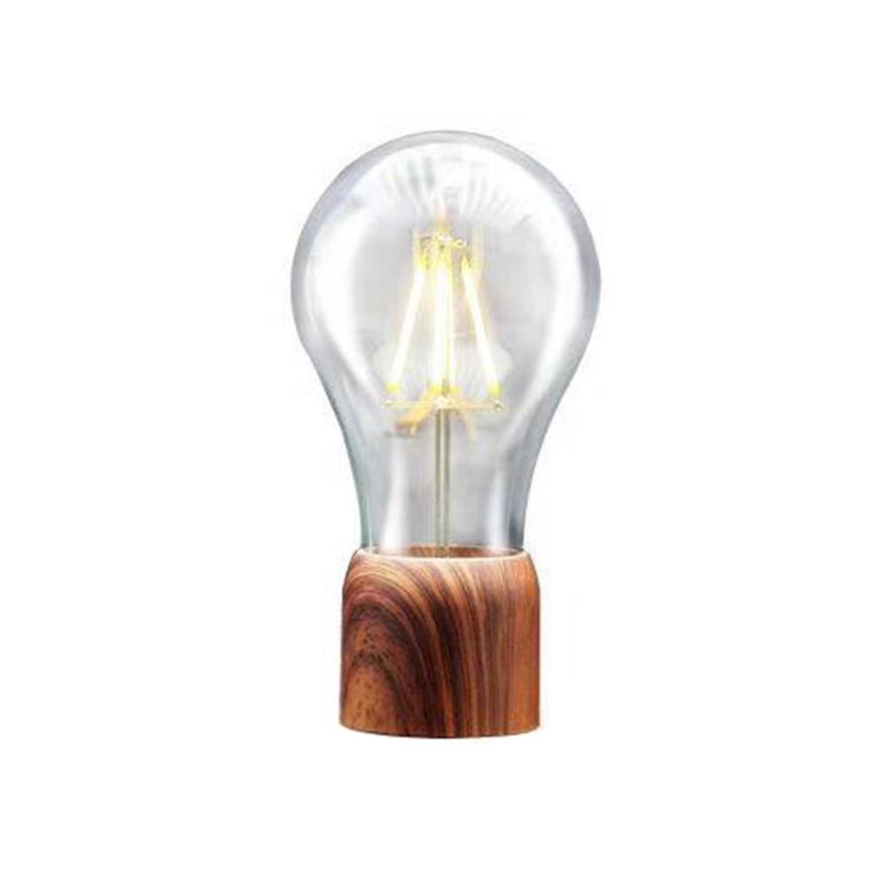 Ampoule Bureau Bois Grain Flottant Lampe Unique Cadeau Bureau À Domicile Chambre Petite lampe de nuit décorative
