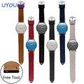 Для жгутов activite сталь/pop Качество Натуральная Кожа Ремешок Для Часов 18 мм Мужские Часы Ремешок многоцветный