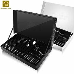 أدوات المائدة أدوات مائدة من فولاذ لا يصدأ أطباق فندق السفر سكين لحوم الصلب شوكة مجموعة De Cubiertos أدوات المائدة المحمولة SKI001