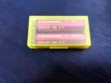 Li-mn e Caixa de para Vtwo 2 Pcs Litro 40a Energia DA Bateria Cigarro Eletrônico 18650 3000 Mah Rx2 e 3 Rx200s