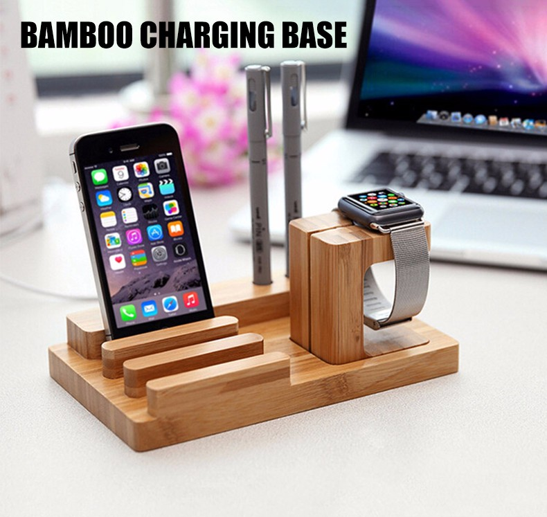 For iPhone Apple iWatch Wood Charge Holder (1)