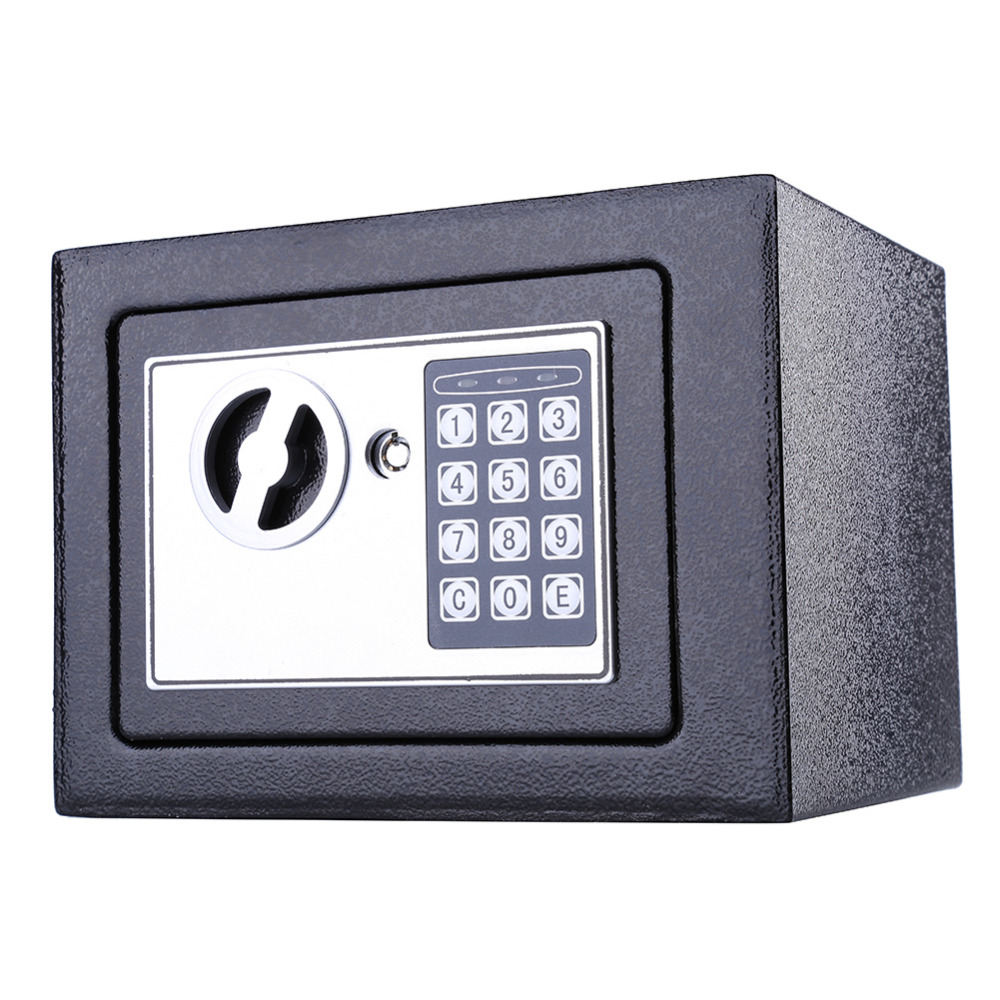 Digital Electronic Safe Box Security Mini Keypad Lock Home Office Security 6.4L Black Wholesale