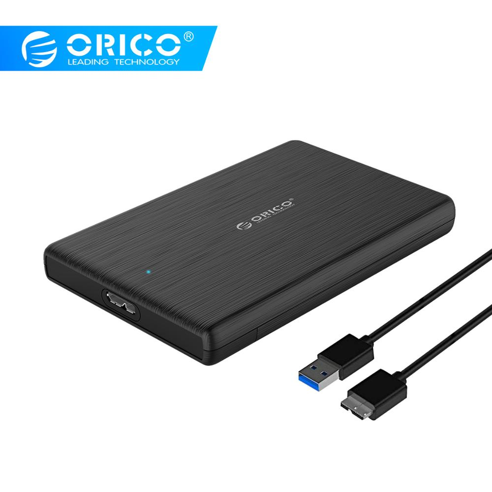 ORICO HDD Case 2.5 SATA to USB 3.0 Hard Drive Enclosure for SSD Disk HDD Box Type C 3.1 Case Support UASP for Window/Max/Linux(China)