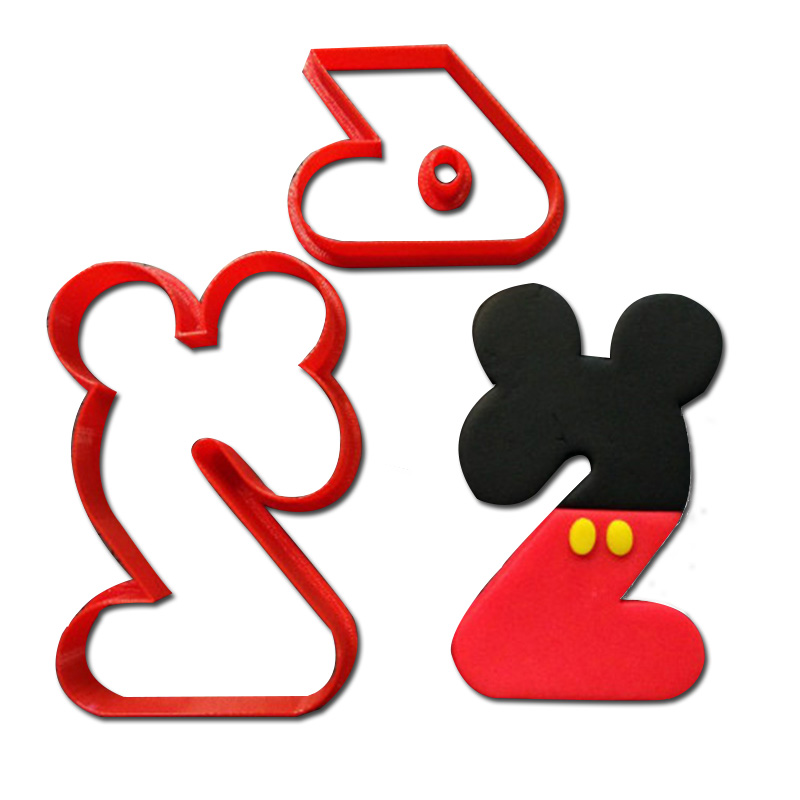 Desenhos Animados Micky Mouse Cookie Cortadores De Letra Numero 0