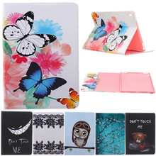 For Ipad Pro 9.7'' Butterfly Owl Bear Cartoon PU Leather Flip Stand Cover Cases For Apple iPad 7 Air 3 Tablet Cover Case Fundas for apple ipod touch 7 case vintage calf grain leather flip stand shockproof wallet cover for ipod touch 5 6 case card holder