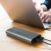 Powerseed Tank Plus QC3.0 20000mAH Power Bank Dual USB 5V/3A Output External Battery Pack Travel To Carry With LED Light
