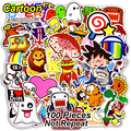 100 Pcs Mixed Cute Cartoon Stickers for Laptop Snowboard Home Decor Car Styling Decal Fridge Doodle Fashion Waterproof Sticker