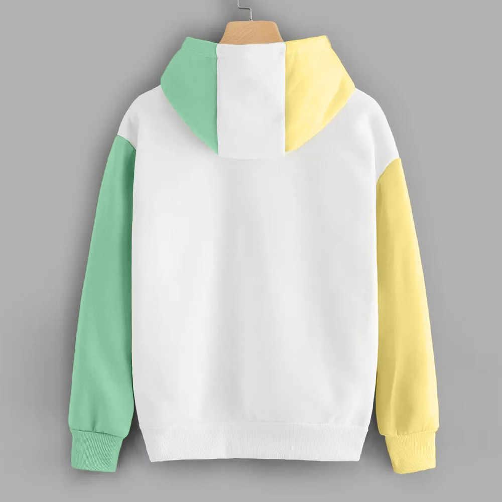 Trendi Wajah Musim Asing Hal Berkerudung Pria Wanita Hoodies Kaus Huruf Cetak Lengan Panjang Kapas Trendi Streetwear Hoodi