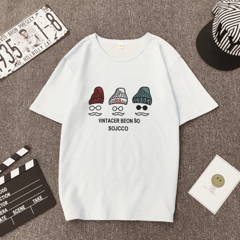 Three cats printed summer 2018 woman white T shirt cotton tunika big size harajuku kawaii gothic life is strange wonder woman
