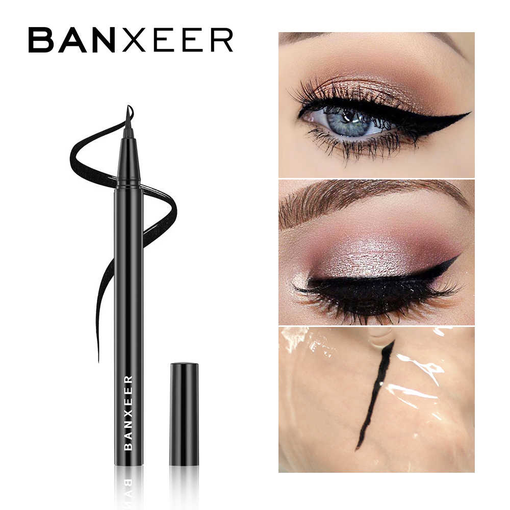 Banxeer Eyeliner Waterproof Liquid Eyeliner Make Up Kecantikan Kosmetik Tahan Lama Eye Liner Pensil Alat Make Up untuk Wanita