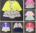 Baby girl dress dress recién nacido recién nacido 2 unid/set 100% algodón jumpsuit toddlery establece infantil ropa traje lindo ropa importada