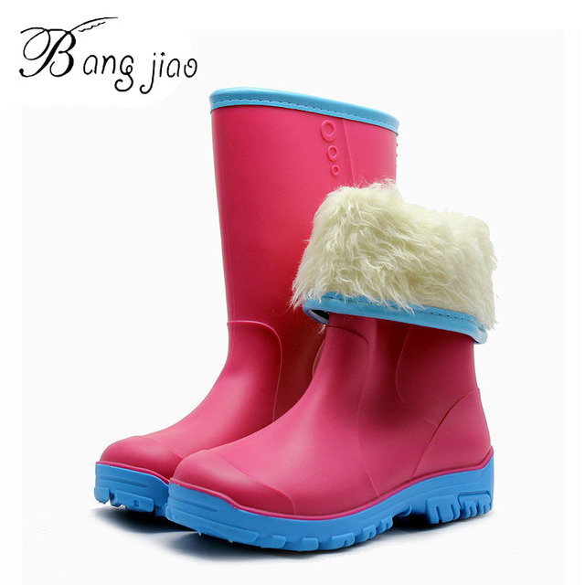 Free Shipping High Quality Fashion Mid-calf Tall Plus Velvet Snow Rain  Boots Low Heels a021ba17a0d8