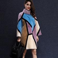 2016 New Arrival XXXL Size Long Mandarin Full Pelt Collar Real Fur Coat Both Sides