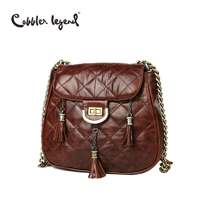 цена на Cobbler Legend Woman 2018 Women Genuine Leather Bag Shoulder Bags Female Handbags Messenger Bags For Ladies Brands Designer