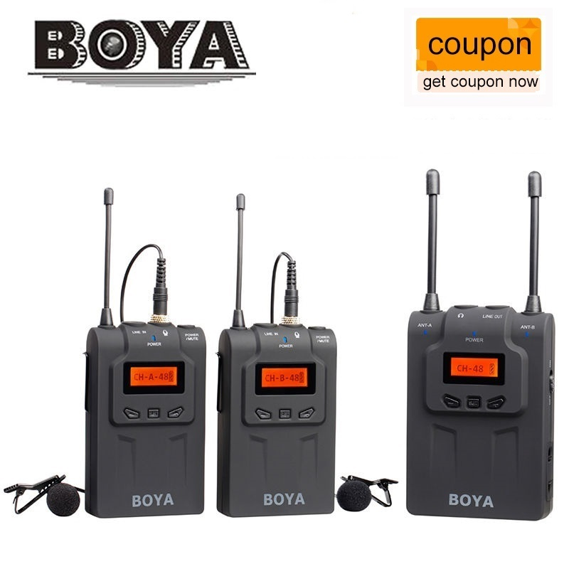 BOYA BY-WM6 / BY-WM5 / BY-WM8 UHF Wireless Microphone System Omni-directional Lavalier Microphone for ENG EFP DV DSLR
