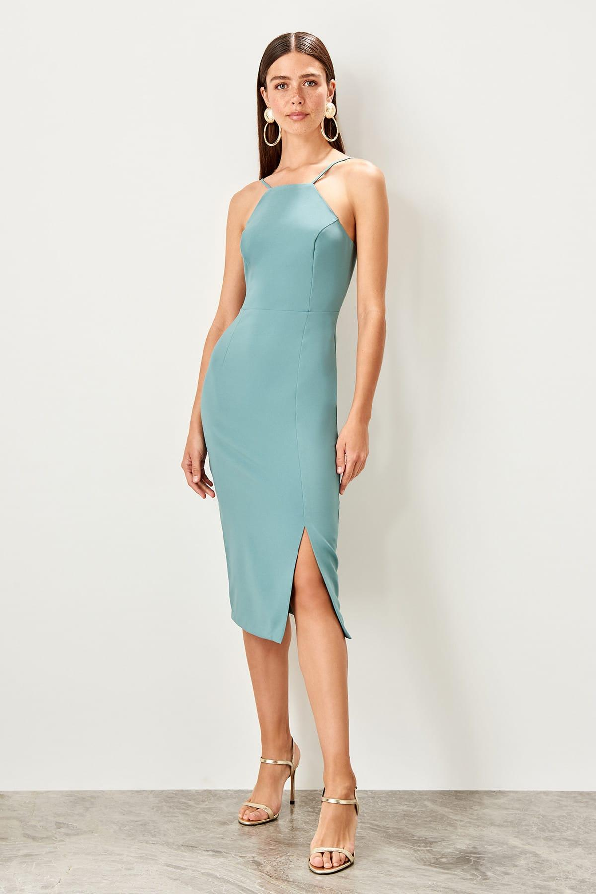 Trendyol Mint Halter Dress TWOSS19BB0501