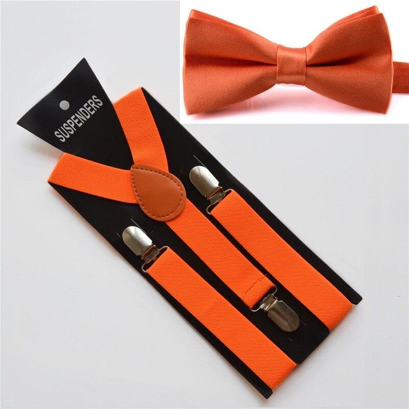 Цвет: оранжевый галстук-бабочка