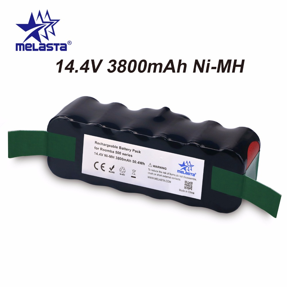 цена на Updated Capacity 3.8Ah 14.4V NIMH battery for iRobot Roomba 500 600 700 800 Series 510 530 550 560 620 650 770 780 870 880 R3