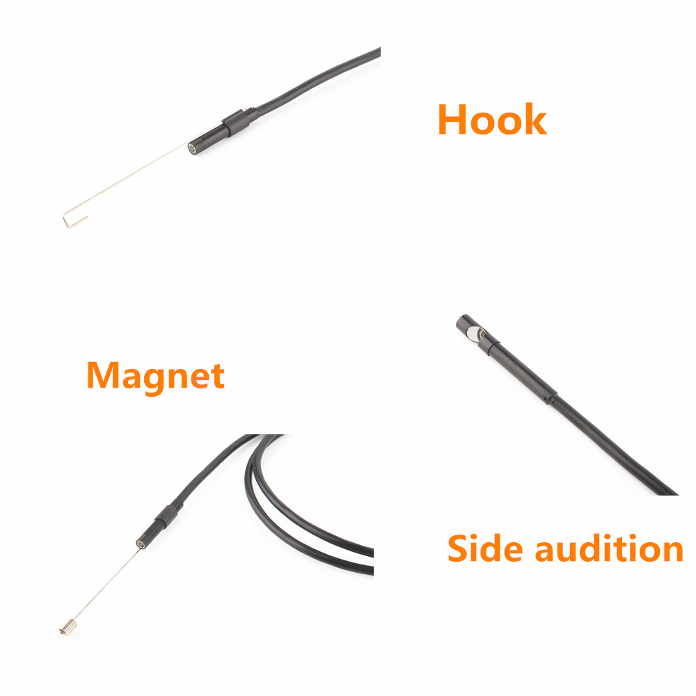 5.5mm Endoscope Camera 1/1.5/2/3.5/5M  2 in 1 Micro USB Mini Camcorders Waterproof 6 LED Borescope Inspection Camera For Android