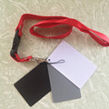 3in1 White Black 18% Gray Color Balance Cards with Neck Strap Pocket Size Digital Grey Card 8.5x5.5cm for DSLR Camera