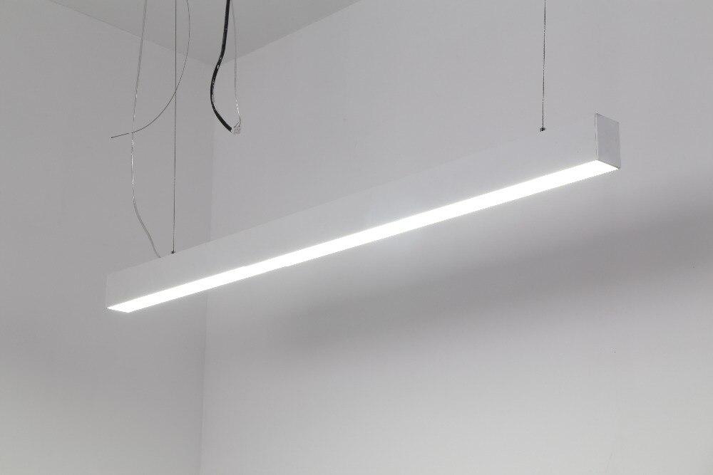 Бесплатная доставка 1500 mmEnergy экономии светодиодные линейные подвесные свет 40 Вт освещение офиса трубки smd2835 оптовая продажа Превосходное ка...
