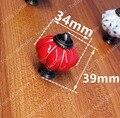 Dia. 34mm Pumpkin ceramic knob Single Hole knob Zinc alloy Kitchen Furniture knob drawer knob