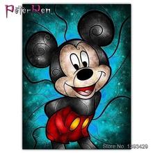 5D DIY Diamond Painted Mickey Mouse 3D Painting Cross Stitch full Mosaic Diamonds Embroidery Home Decor Disney cartoon
