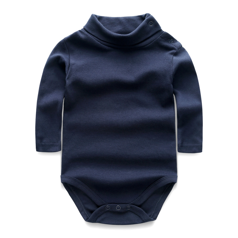 Baby Bodysuits Long Sleeve Baby Girl Boy Clothes Body Bebes Solid High Collar Overalls Bodysuit Newborn Autumn Cotton Clothing