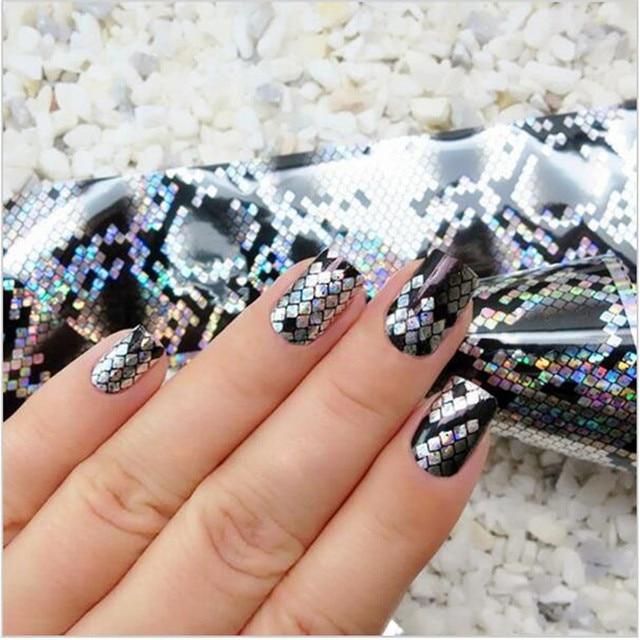 1 Roll 4100cm Holographic Nail Foils Snake Skin Foils Nail Art