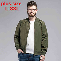 Plussize L 8XL Military Male Army Green MA 1 Flight Bomber Jacket Baseball Varsity American College