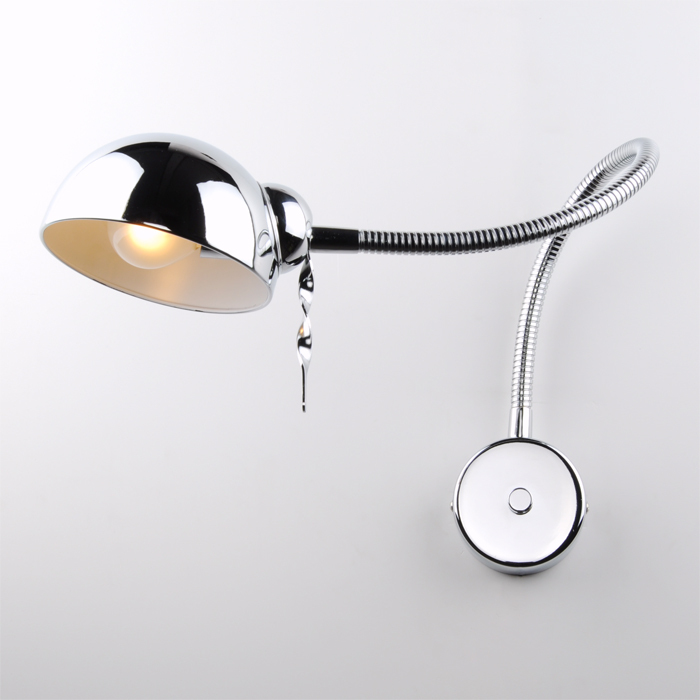 Creative arm wall lamp dimmer led bedside lamp bedroom lamp before the bathroom mirror lights switch connector wall lights ZA
