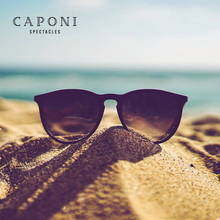Caponi Unisex Polarized Sunglasses Photochromic Lenses New Simple Sun Glasses Fashion Oval Style Frame Eyewear BS3102