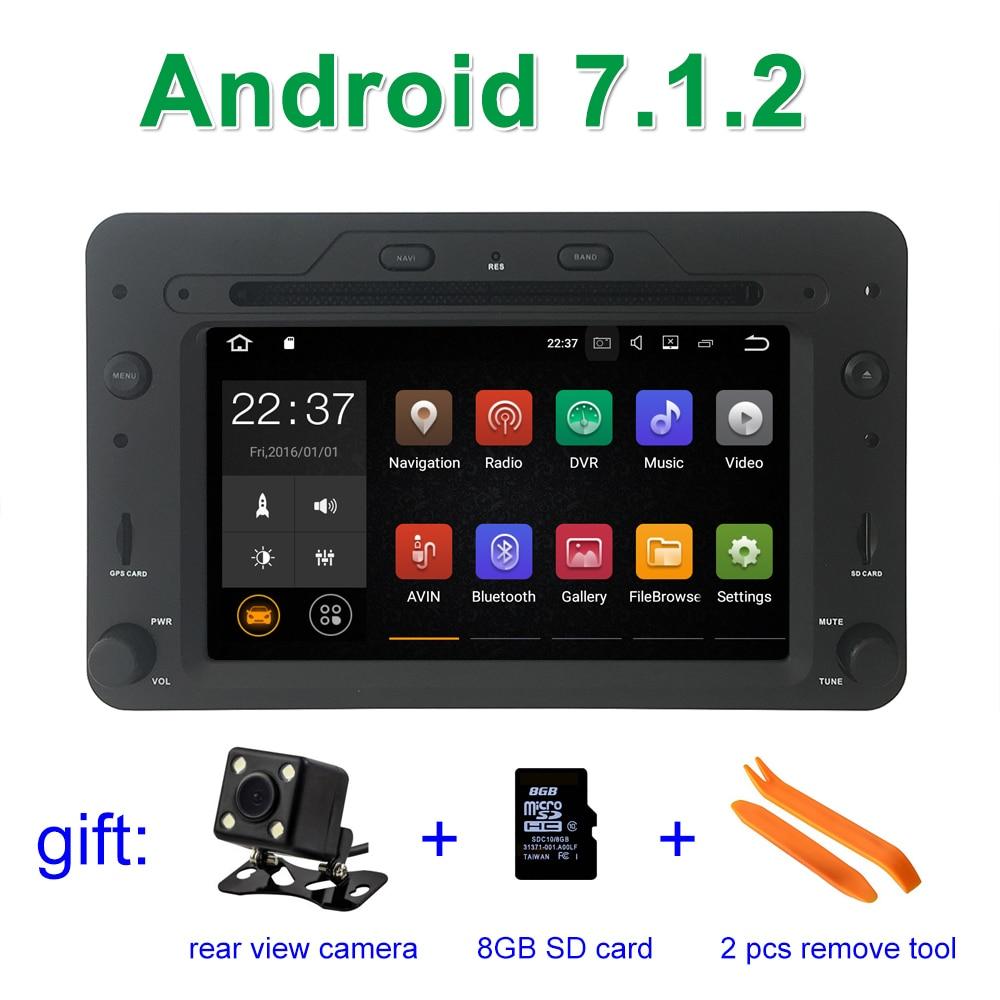 Android 7.1.2 DVD de Voiture Lecteur GPS pour Alfa Romeo 159 Sportwagon Araignée Brera avec BT Wifi Radio