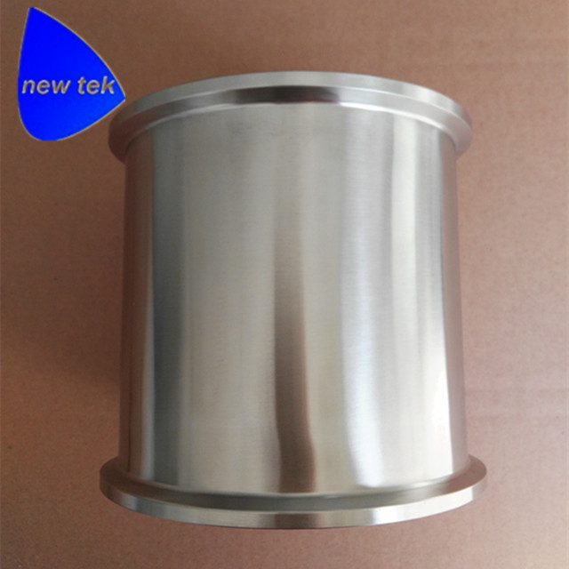 Tuyau de bobine sanitaire Tri pince 6 pouces (166.7mm OD) x 6 pouces (152.4mm) Long SS304Tuyau de bobine sanitaire Tri pince 6 pouces (166.7mm OD) x 6 pouces (152.4mm) Long SS304