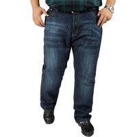 Jeans Men Autumn Plus Size Oversized Big Men S Jeans Stretch Comfortable Denim Pants Elastic Waist