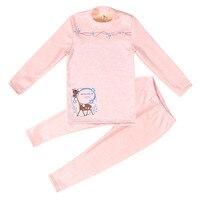 SFT 030 New Winter kids pajamas sets Baby girls clothes sweet dreams pajamas baby girls cartoon long sleeve T shirt+Pants 2pcs