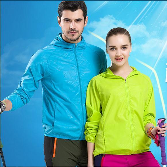 Los hombres y las mujeres al aire libre de protección solar, ropa de secado rápido, ultra-delgado, ultra-ligero transpirable deportes ropa. ropa