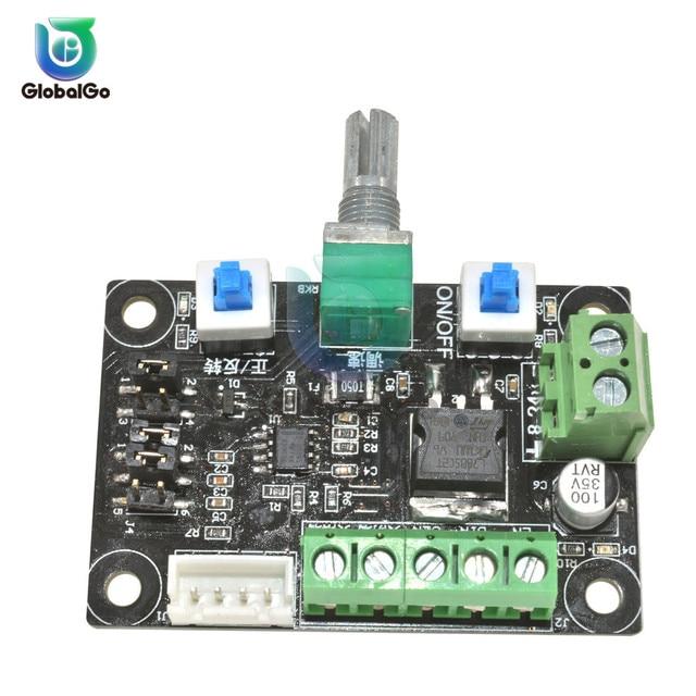 Controlador de Velocidade Do Motor de passo Motorista Módulo Gerador de Sinal de Pulso Do Sinal De PWM 8 ~ 24 V 12 V Com Interruptor Potenciômetro