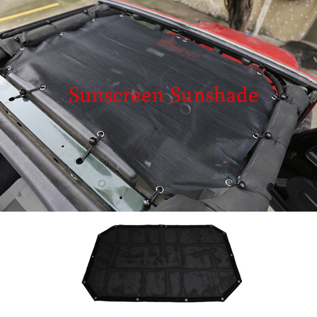 Car accessories for Jeep Wrangler Unlimited JK 2 Door SunShade Roof Shade Sunscreen Cover UV Protection 1pcs