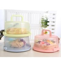Plastic Food Vegetable Storage Boxes Keep Fresh Refrigerator Cake Box With Lid Cake Stands Kitchen Cake