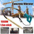 800 W/1200 W/1560 W vibradores de hormigón mezclador eléctrico de suelo de cemento con palo 3/4 HP-pesado eliminar burbujas de aire y nivel 5000 VPM