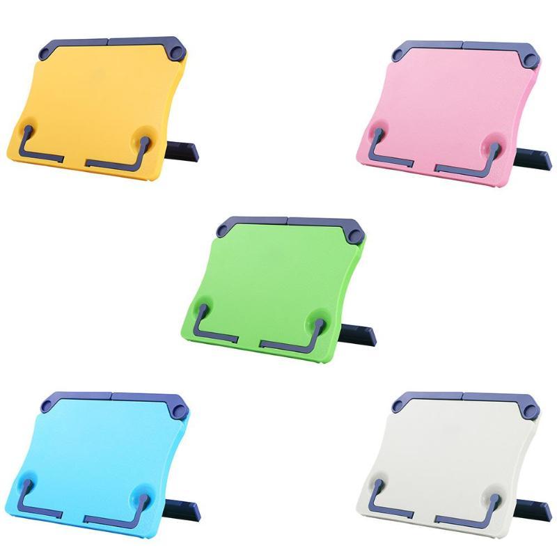 Portable Music Stand Hand Roll Foldable Desktop Reading Frame Flat Holder