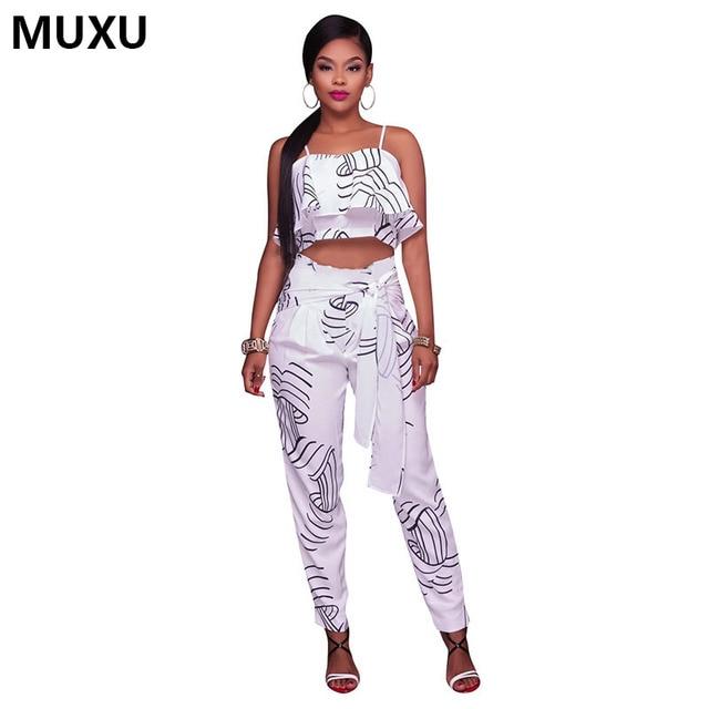 MUXU sexy strumpf beiläufige lange weiße blumen overall combinaison ...