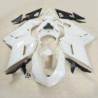 Белый Неокрашенный обтекатель КУЗОВ набор для DUCATI 1098 848 1198 07 12 Белый Мотоцикл