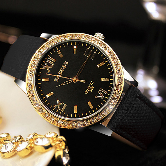 YAZOLE Golden Diamond Gold Watch Women Ladies Famous Brand Luxury Quartz Watch Wrist Female Clock Montre Femme Relogio Feminino wecin f5049 female quartz watch with diamond decoration golden watch case