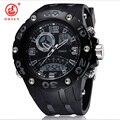 Ohsen marca de moda de luxo relógios mens led esporte militar relógios choque analógico digital de quartzo dos homens relógios relogio masculino
